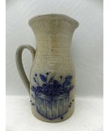 Salmon Falls Stoneware Dover, NH. - Blueberry pitcher - dated 1989 - Exc... - $12.38