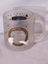 """Astronaut Hall of Fame glass cup approx. 3.75"""" tall - $5.10"""