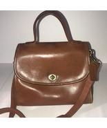 Vintage Coach Court Bag British Tan Purse Cross Body G5C-9977 - $193.05