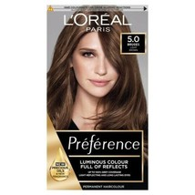 L'oreal Preference 5.0 Bruges Light Brown Luminous Hair Dye Permanent Grey Cover - $23.76