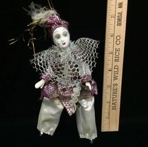 "Clown Court Jester Figurines Soft Body w/ Porcelain Limns & Head 8"" Tall - $18.80"