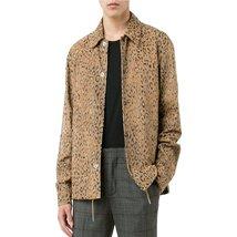 Leopard Print Men Leather Jacket