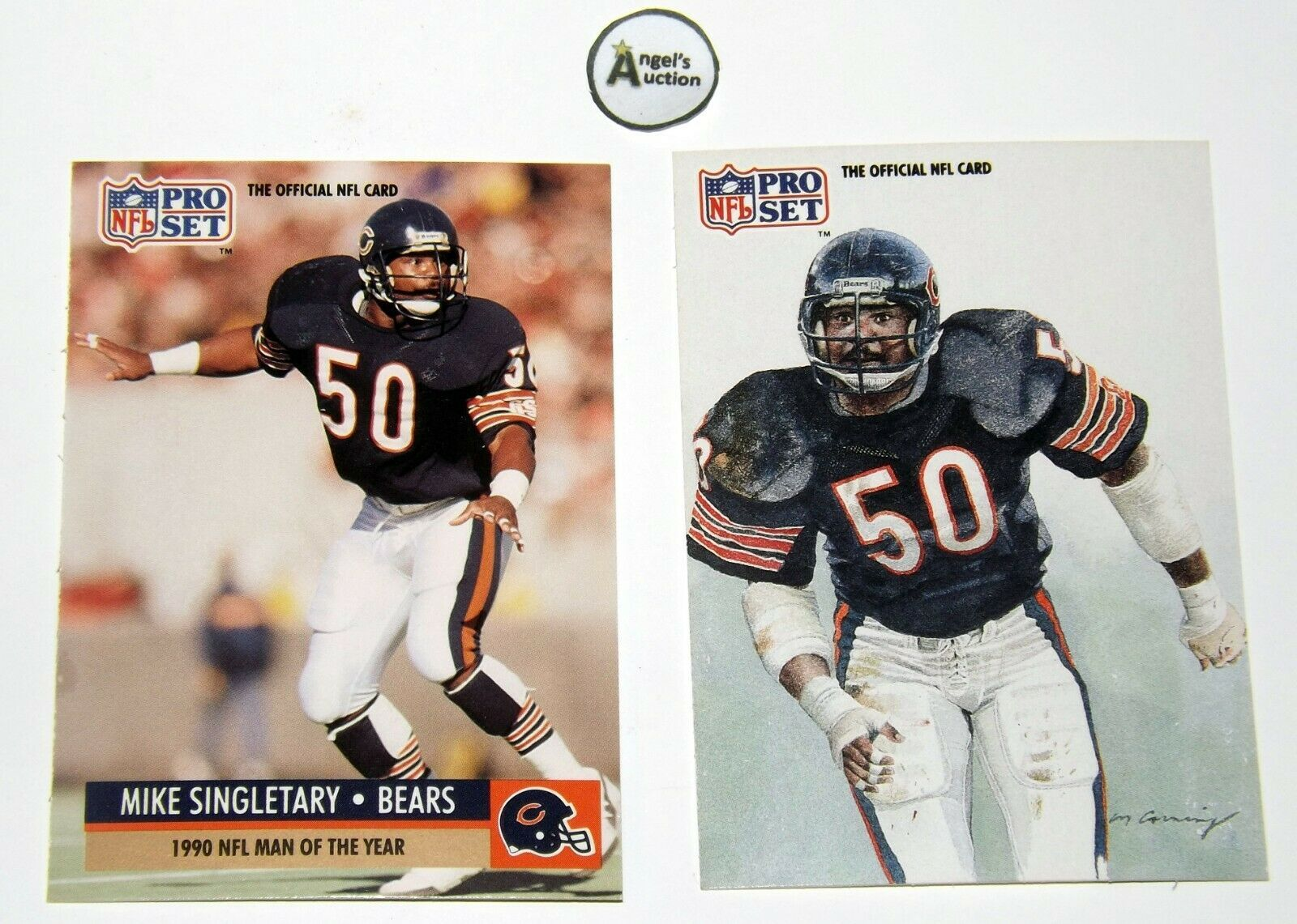 Mike Singletary #50 RB Chicago Bears Football Trading Cards AA-191699 Vintage C