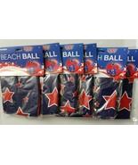 "Lot of 6 GrinStudios American Stars Flag Inflatable Pool Beach Ball 24"" ... - $29.69"