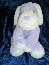 Toys R us Stuffed Plush Purple Lavender Cream White Puppy Dog 2012 Big 2... - $148.49