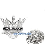Dipset Necklace With Guns New Pendant With 24 Inch Long Cuban Chain Dipl... - $19.99