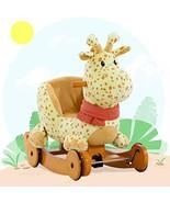 Labebe Child Rocking Horse Plush, Fawn Rocking Horse Stuffed, 2 in 1 Yel... - $112.87