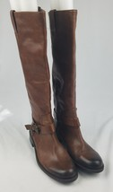 Vince Camuto Kabollans women 7.5B brown high rise boot round toe buckle ... - $69.30