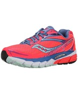 SAUCONY WOMEN'S RIDE 8 RUNNING SHOE CORAL/BLUE/SEA 8.5 M US - $138.59