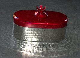 Judaica Travel Tea Candle Holders Candlesticks Shabbat Holiday Pomegranate Red image 2