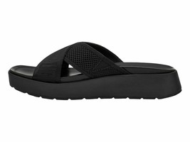 UGG Emily Mesh Black Women's Cross Slide Sandals 1119491 - $88.90