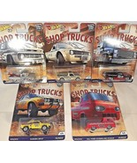 2018 Hot Wheels Car Culture SHOP TRUCKS Full Set of 5 w/Real Riders See ... - €44,01 EUR