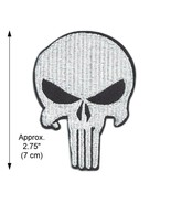 """PUNISHER IRON ON PATCH 2.75"""" Small Superhero Skull Logo Embroidered Appl... - $5.99"""