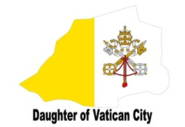 Daughter of Vatican City Pope Papal Catholic Map Flag Poster High Quality  - $6.90+