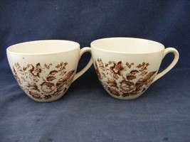 2 Ridgway Atherstone Staffordshire England Cups No Saucers Good Condition - $18.00