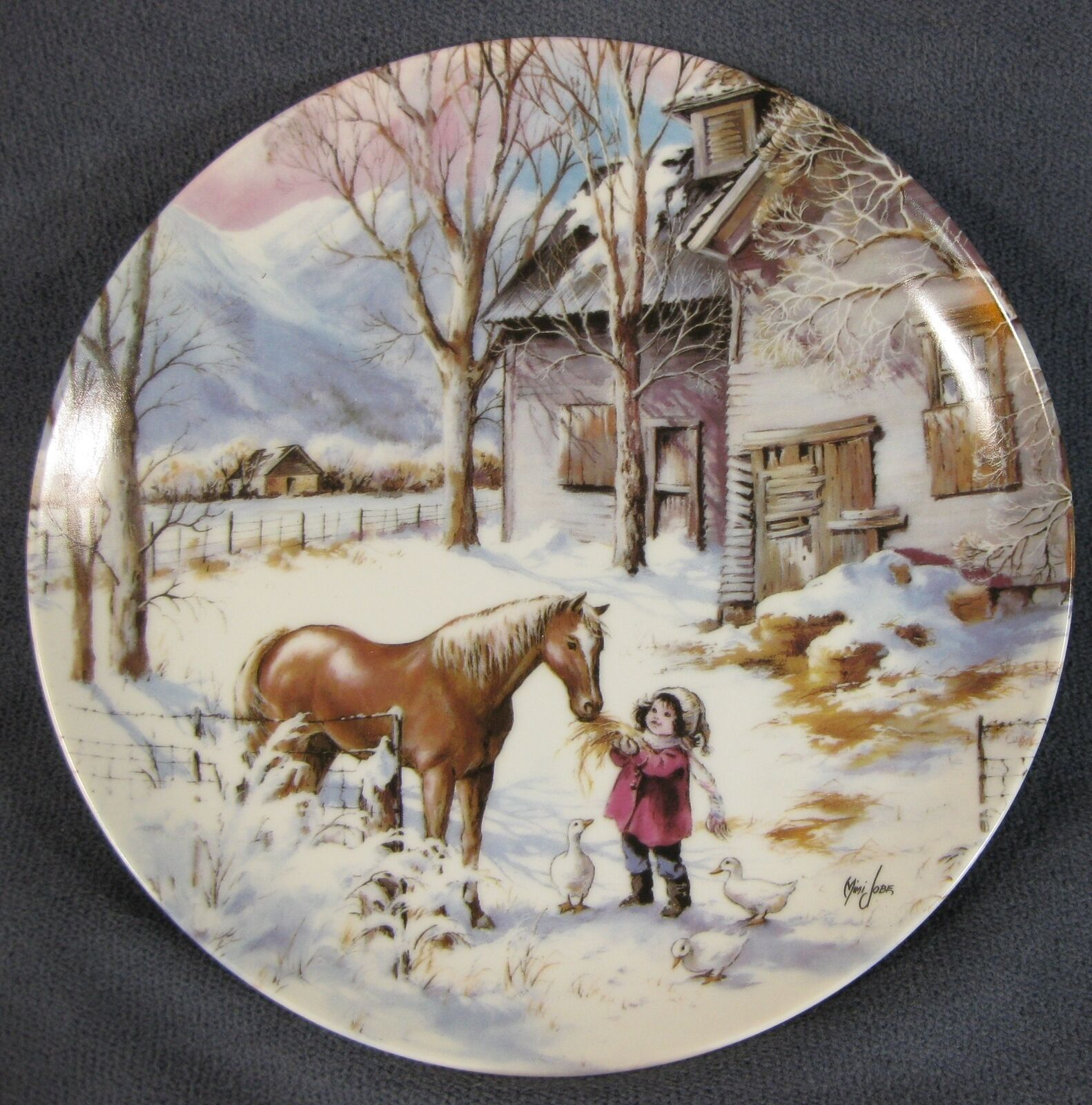 Primary image for Trusted Companion Collector Plate Nature's Child Mimi Jobe Knowles 84-K41-100.5