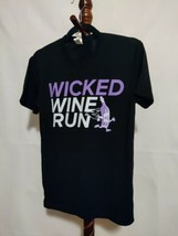 "Independent Co women sz S t-shirt black SS crew neck ""Wicked Wine Run"" l... - $15.76"