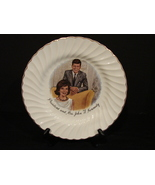 President and Mrs John F Kennedy  Collectors Plate by Sheffield Bone Whi... - $6.99