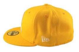 Dissizit! Mens Yellow English DX Bones Detroit New Era Fitted Baseball Hat Cap image 3