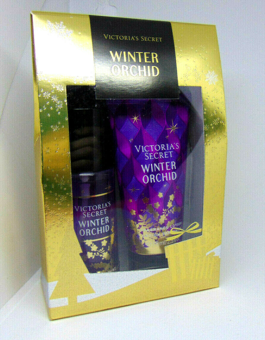 Primary image for VICTORIA'S SECRET WINTER ORCHID Fragrance Mist & Body Lotion 2.5oz NIB
