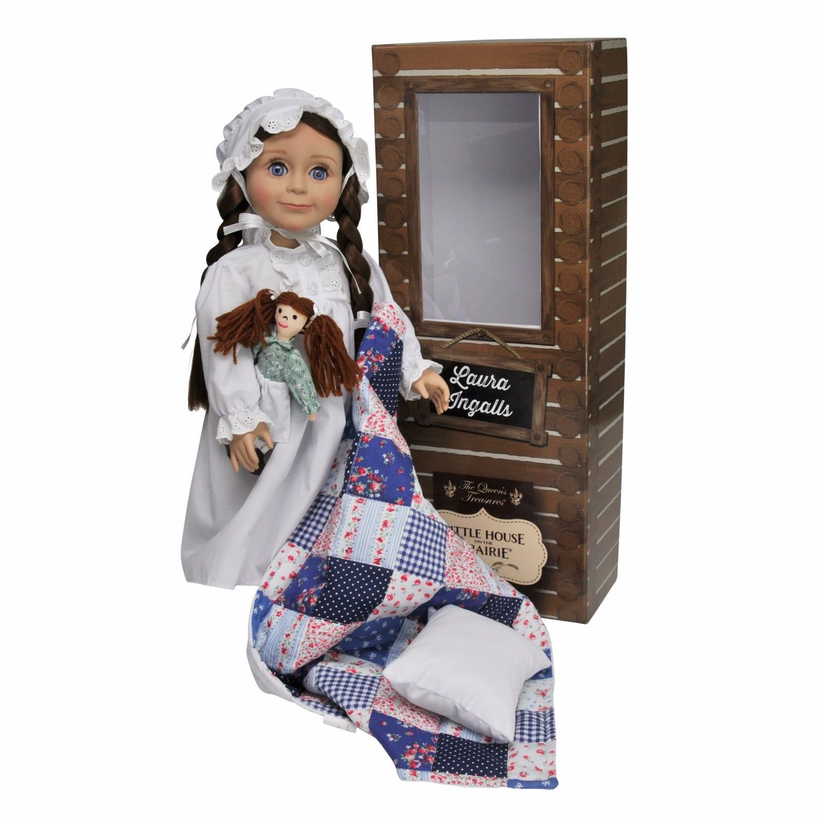 *Little House on the Prairie® 18 In Laura Ingalls Doll,Rag Doll, Bed Box,Bedding for sale  USA