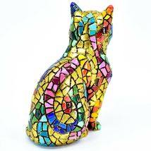 """Barcino Hand Painted Limited Edition Carnival Mosaic 4"""" Cat Kitten Figure 40686 image 3"""