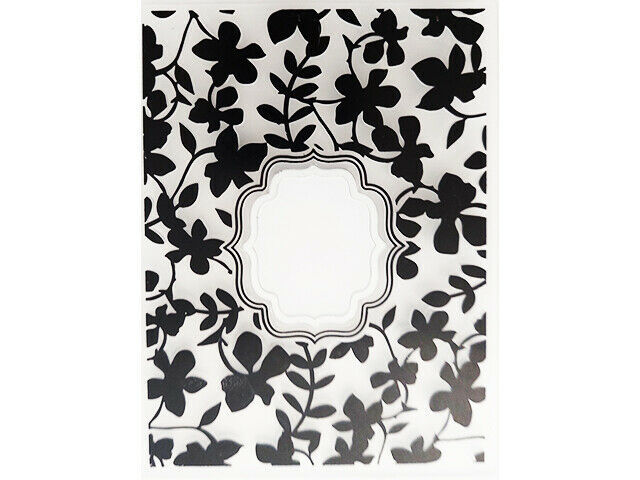 Floral Embossing Folder with Window, Great for Card Making!