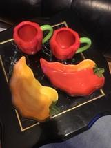 "CLAY ART ""La Mesa"" Figural Yellow Chili Pepper 9"" Serving Bowl  EUC - $26.75"