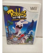 Rabbids Go Hame A Comedy Adventure Video Game for Wii by Ubisoft - $9.28