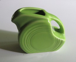 Fiesta Fiestaware Chartreuse Green Mini Disc Pitcher Retired 1999 HLC Pottery - $33.97