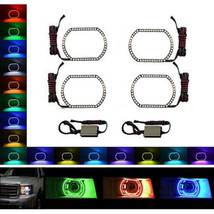 2009-2013 GMC Sierra Truck Multi-Color Changing LED RGB Headlight Halo Ring Set - $149.95