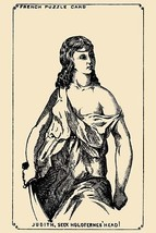 Judith, Seek Holoferne's Head by French Puzzle Card - Art Print - $19.99+