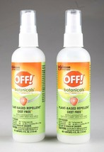 Lot of 2 Off! Botanicals Deet Free Insect Repellent IV - 4 fl oz each NEW