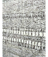 Fantastic Vintage 1970'S MoD MARTEX Full Size Flat Sheet Brown Wicker Weave - $24.00