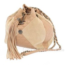 CHANEL Chain Shoulder Bag Goatskin Suede Pink A98747 France Authentic 55... - $1,592.95