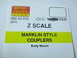 Micro-Trains Stock # 00204010-ONE  #907 Marklin Style Couplers  1 Pair (Z Scale) image 2