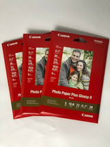 3 - Canon PP-201 Photo Paper Plus Glossy II, 5x7 inch - 60 Total Sheets - $25.71