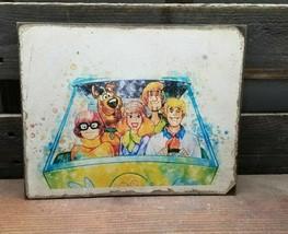 """11"""" Warner Bros Scooby & Gang Car Wood Sign Pop Art Wood Vtg Style Sign - $29.39"""