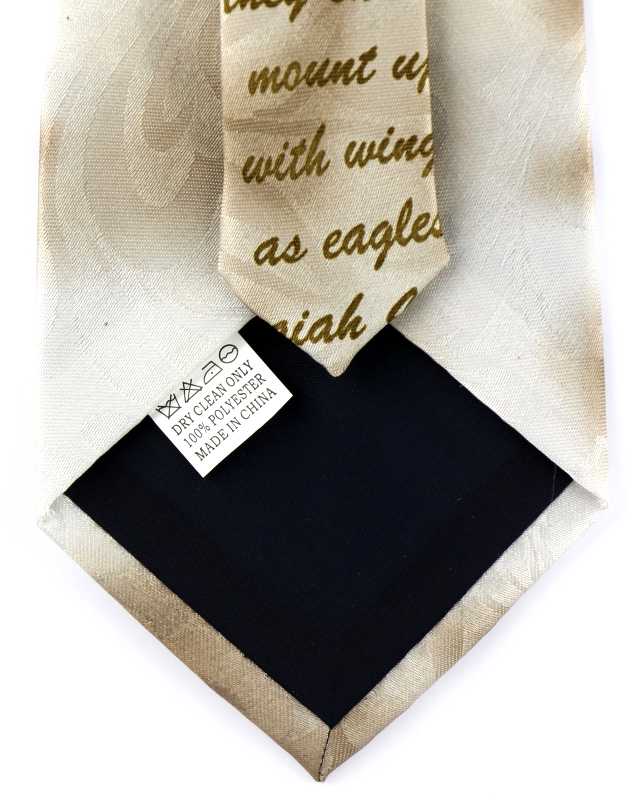 Wings As Eagles Mens Necktie Religious Scripture Isaiah 40:31 Christian Neck Tie image 4