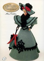 Miss October 1994 Gibson Girl Outfit fits Barbie Doll Crochet Pattern Bo... - $2.67