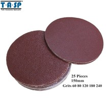 "TASP® 25PC/Set 6"" 150mm Peel Stick Sandpaper Sanding Disk Grits - $21.16"
