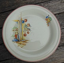 "Dinner Plate 9.5""  Knowles Sleeping Mexican Vintage Red Border - $15.00"