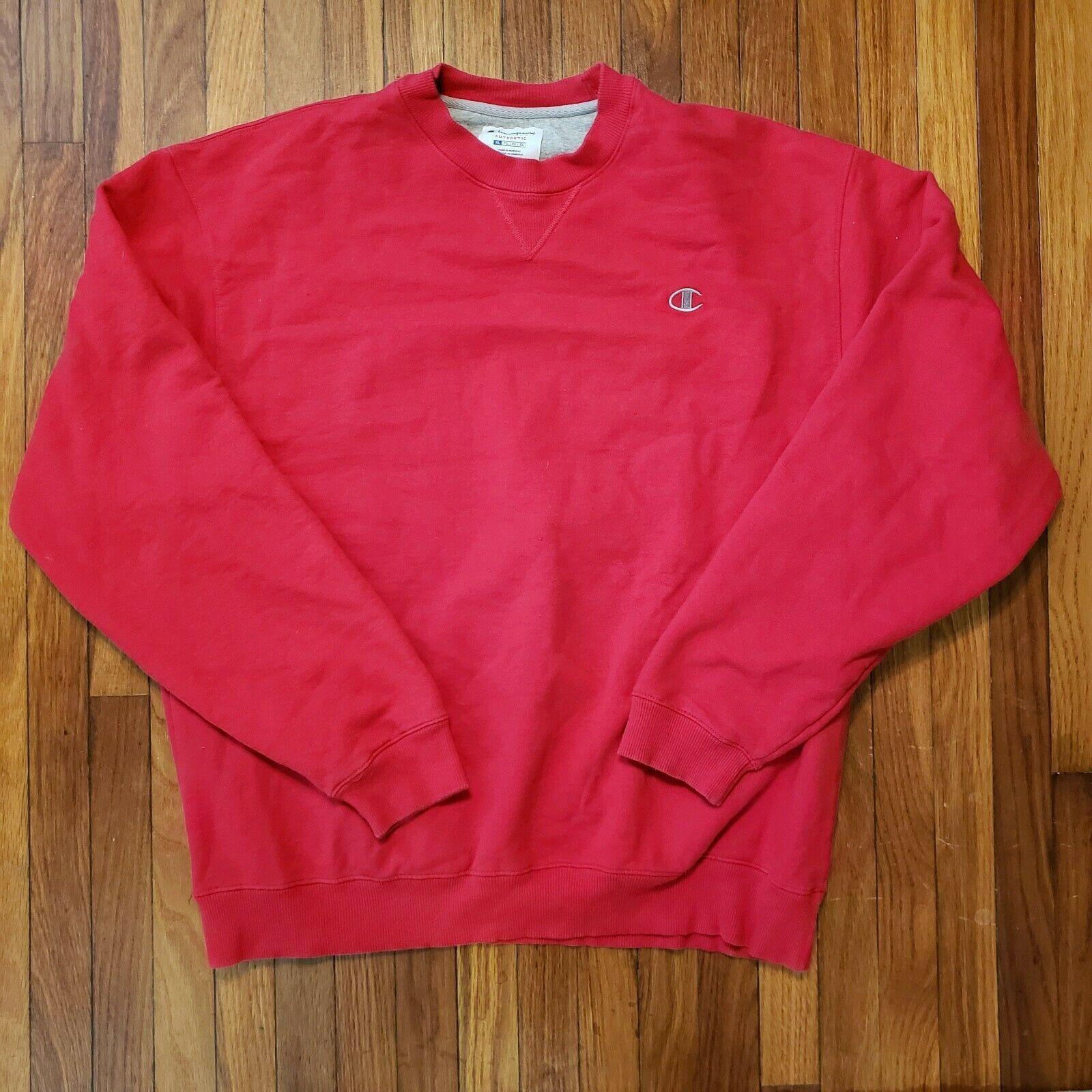 Champion Bright Red Pullover Sweatshirt Men's Size XL