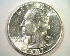 1941 WASHINGTON QUARTER CHOICE ABOUT UNCIRCULATED+ CH. AU+ NICE ORIGINAL... - $12.00