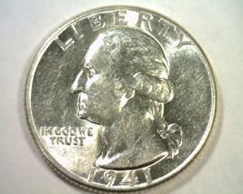 1941 WASHINGTON QUARTER CHOICE ABOUT UNCIRCULATED+ CH. AU+ NICE ORIGINAL... - $12.00
