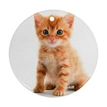 Cute Sweet Kitty Kitten Cats Pets Animal Ornament (Round) Decoration Chr... - $4.45