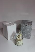 Collectible Precious Moments Enesco Musical Snow Globe w box Gold Silver Waltz - $24.70