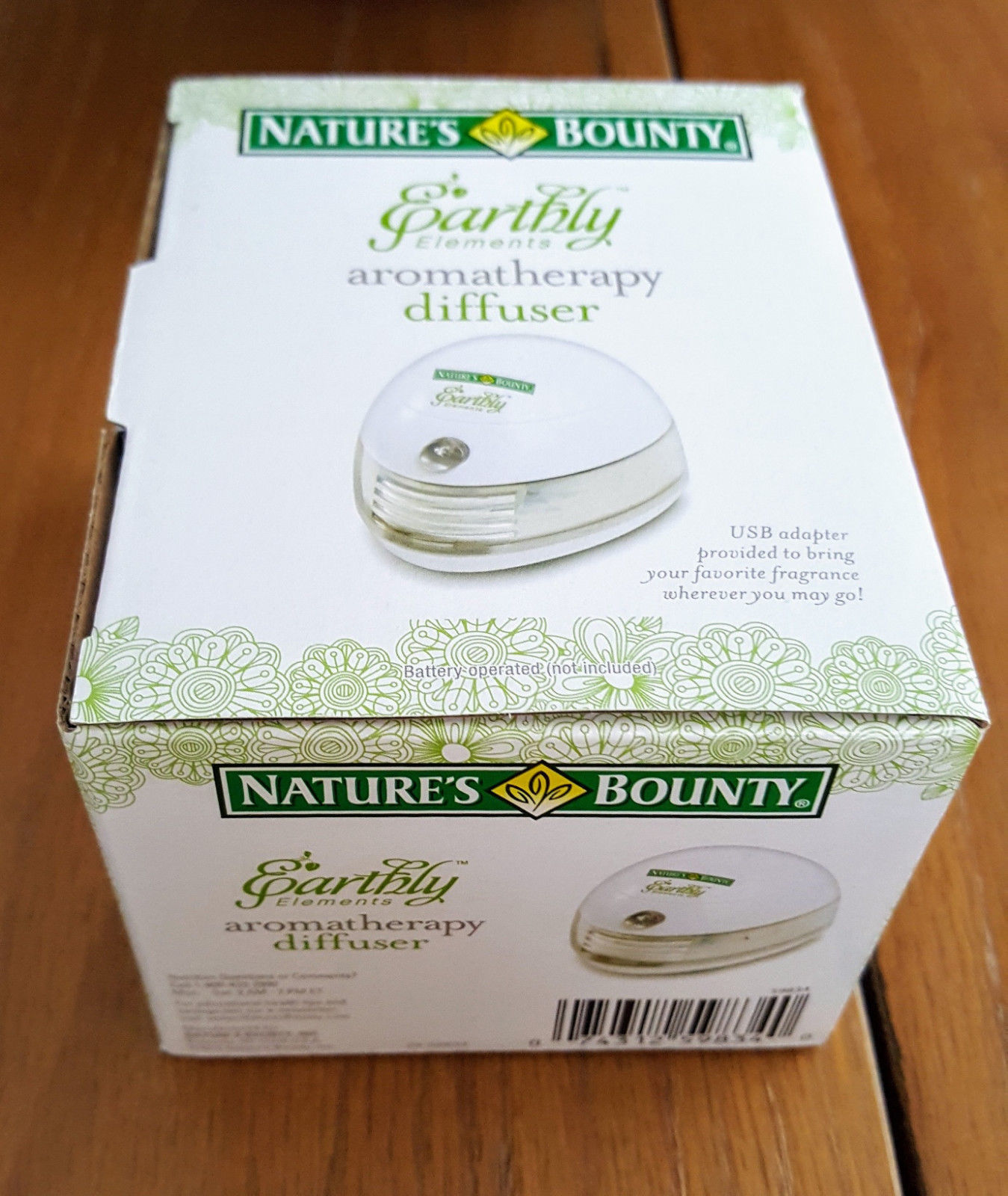 Nature's Bounty Earthly Elements Personal Aromatherapy Diffuser NIB USB or Batts image 2
