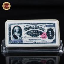 WR 1891 $1 Silver Certificate Martha Washington Color Print Silver Art B... - $4.99