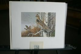 1983 Ruffed Grouse Society Print & Stamp >by Maynard Reece   >  LIt, Edi... - $74.25